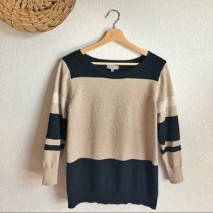 Joseph A. Soft Striped Sweater